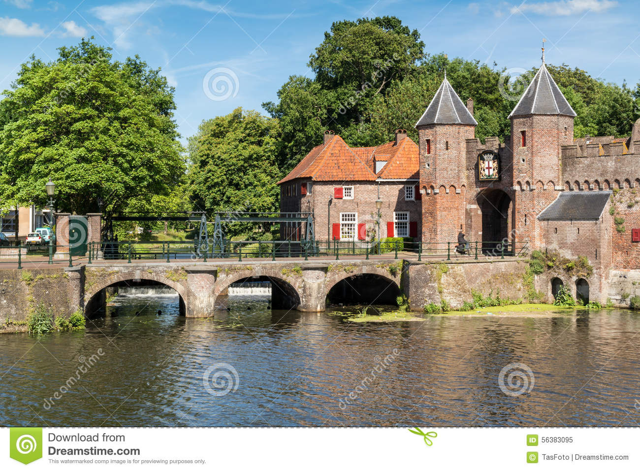 City Gate Koppelpoort In Amersfoort, Netherlands Stock Photo.