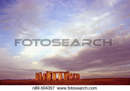 Picture of Sunset. Stonehenge. Amesbury (English county of.