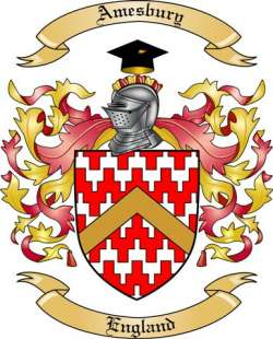 Amesbury Family Crest from England by The Tree Maker.