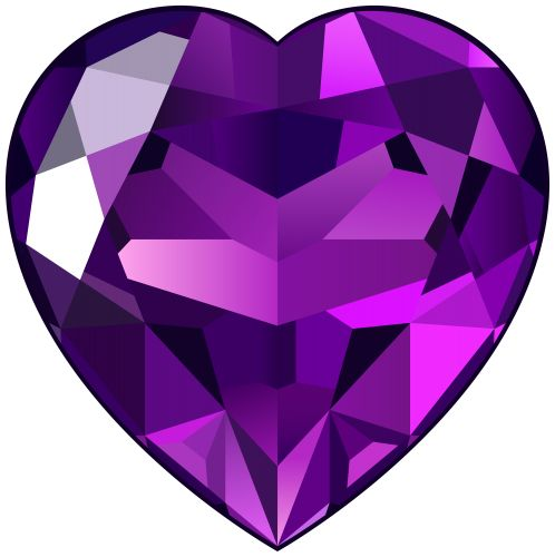 Amethyst Heart PNG Clipart.
