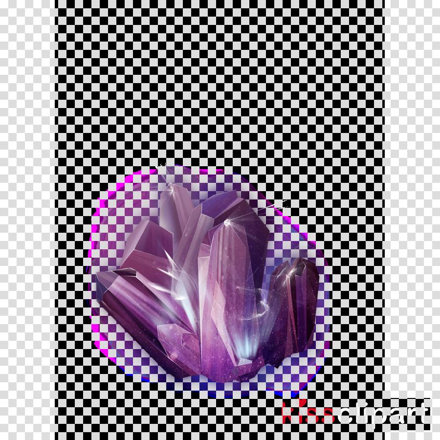 violet purple amethyst crystal gemstone clipart.