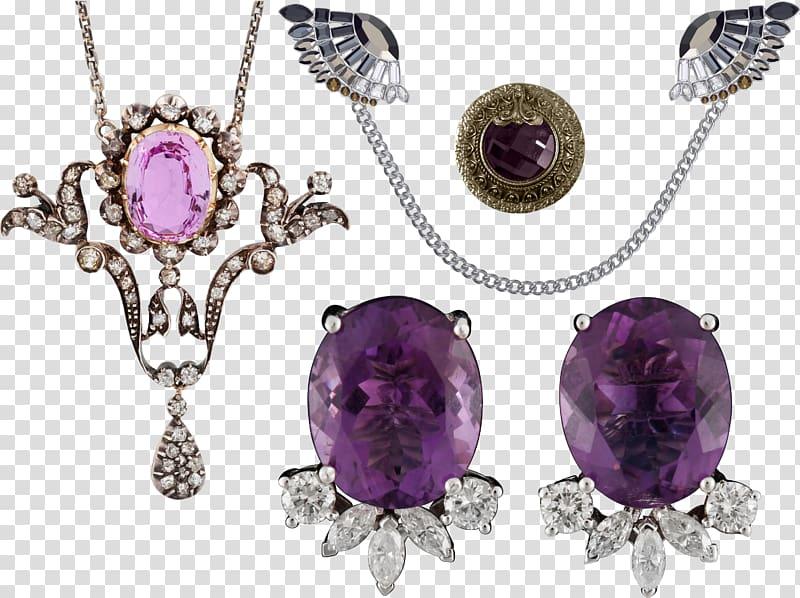 Amethyst Gemstone Diamond Necklace, Amethyst necklace.