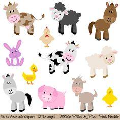 Felt Farm Animals part2 fridge magnets by LadybugOnChamomile.