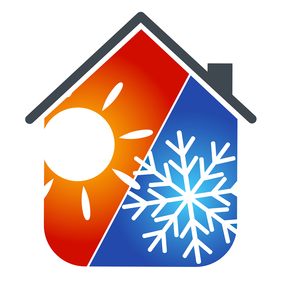Heating and air conditioning clipart.