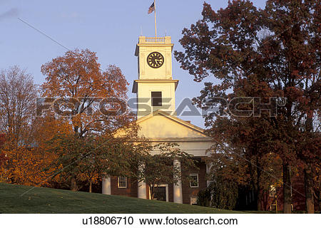 Stock Photography of Amherst, church, college, MA, Massachusetts.