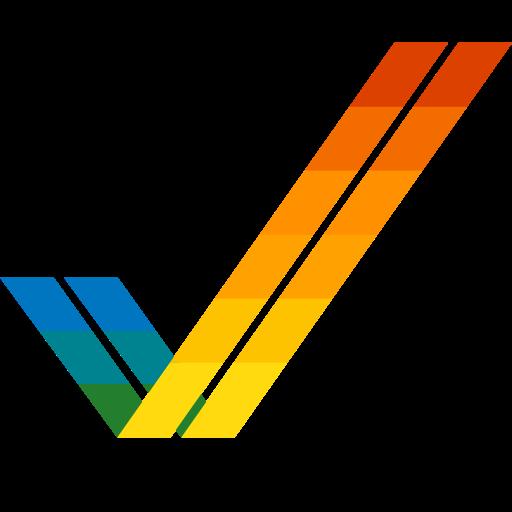 Commodore amiga Logo Icon of Flat style.