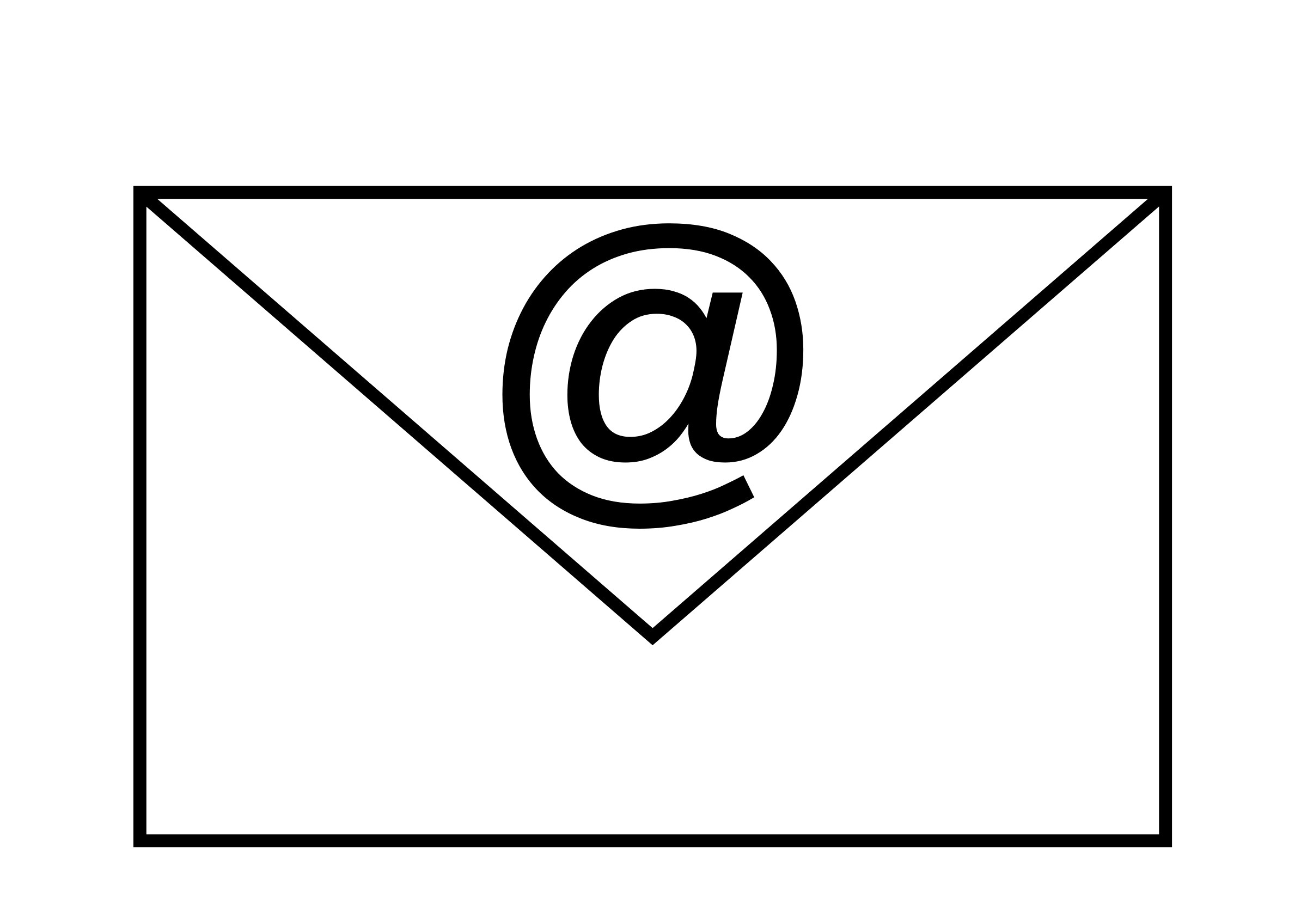 Email clipart black and white » Clipart Station.