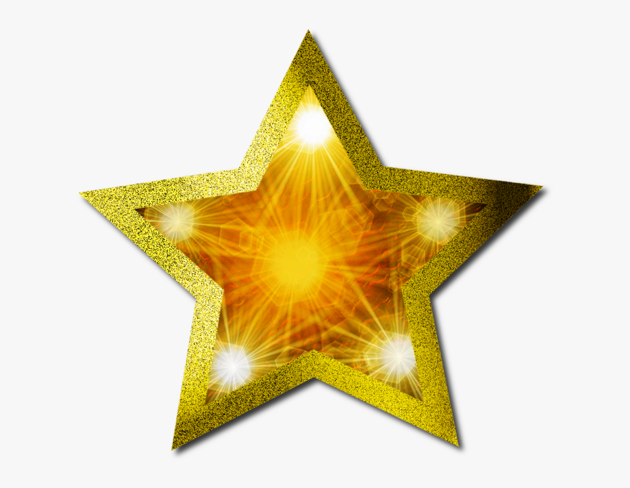 Christmas Gold Star Clipart.