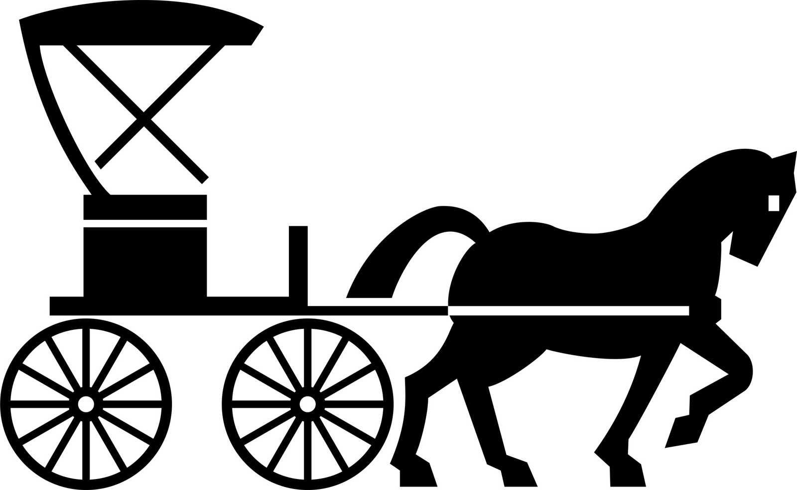 Amish buggy clipart.