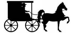 Carriage clipart amish, Carriage amish Transparent FREE for.