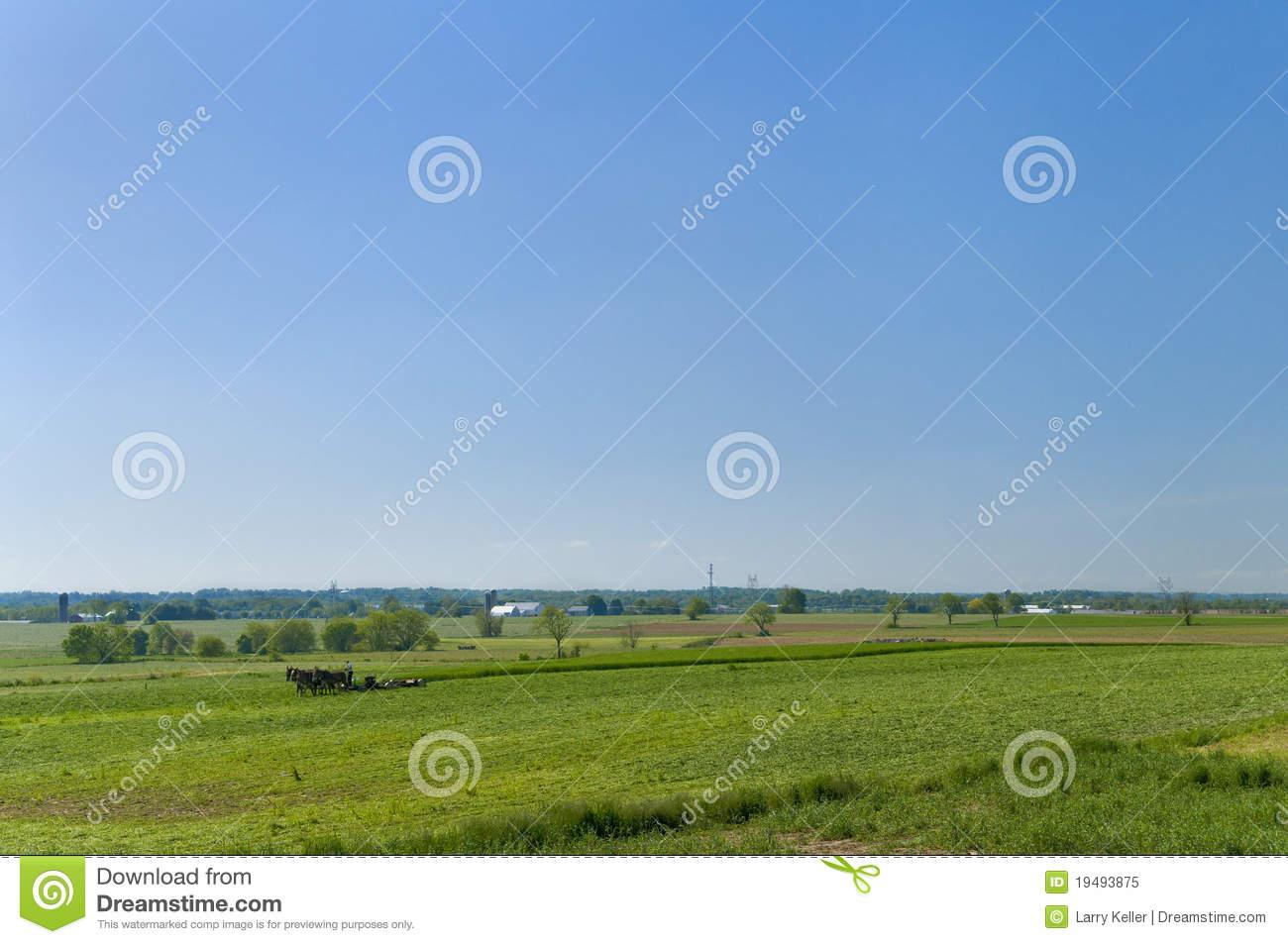 Amish Dairy Farm Clipart.