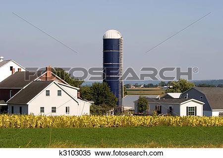 Stock Image of Amish farm k3103035.