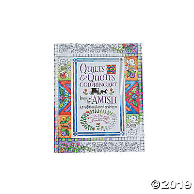 Quilts & Quotes Adult Coloring Book.