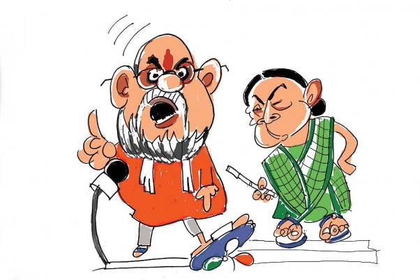 Outlook Photo Gallery : Amit Shah vs Mamata Banerjee When.