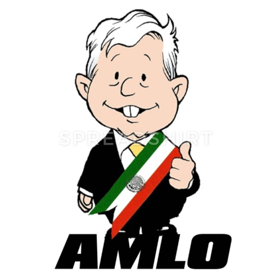 amlo t shirt Buttons small 1\'\' (5.