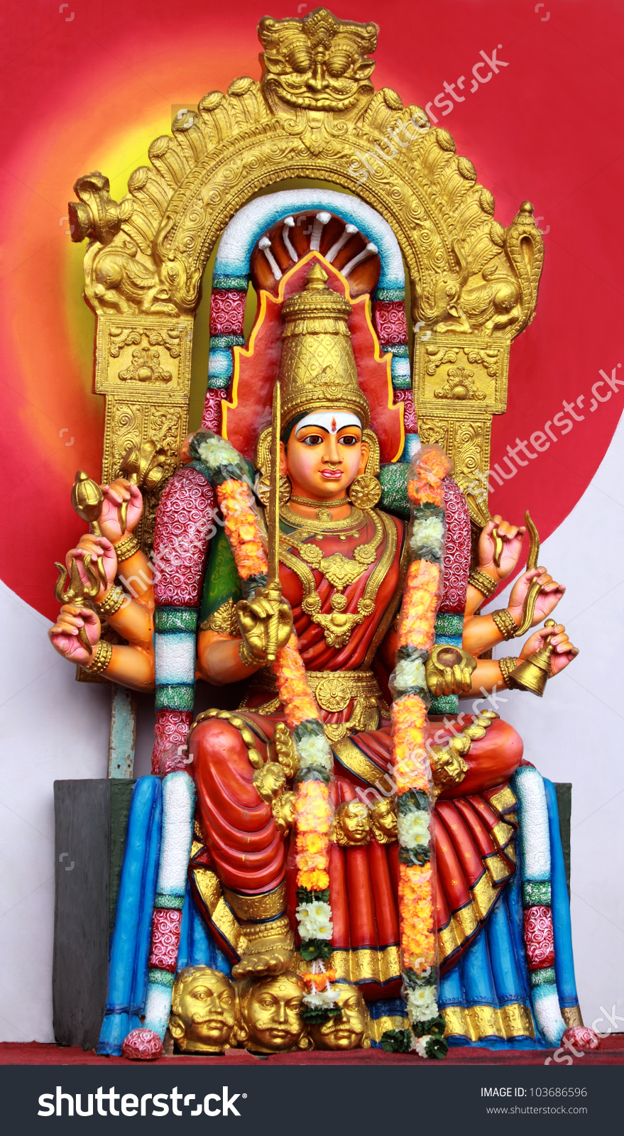 Hindu Goddess Amman Stock Photo 103686596.