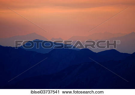 """Stock Photography of """"Sunrise over the Ammer Mountains, Ammergau."""