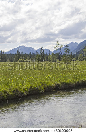 Ammer River Stock Photos, Royalty.