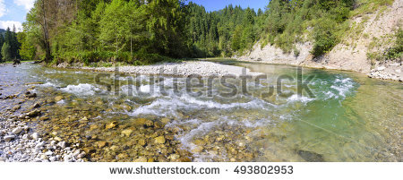 Ammer River Stock Photos, Royalty.