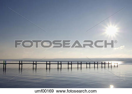 Stock Photograph of Germany, Bavaria, Ammersee, landing stage.
