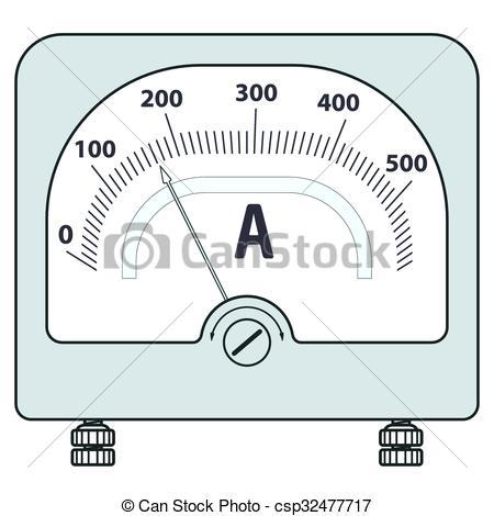 Vector Clip Art of Ammeter.