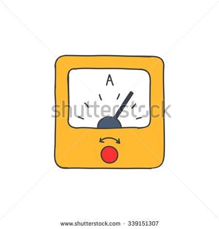 Ampermeter Stock Vectors & Vector Clip Art.