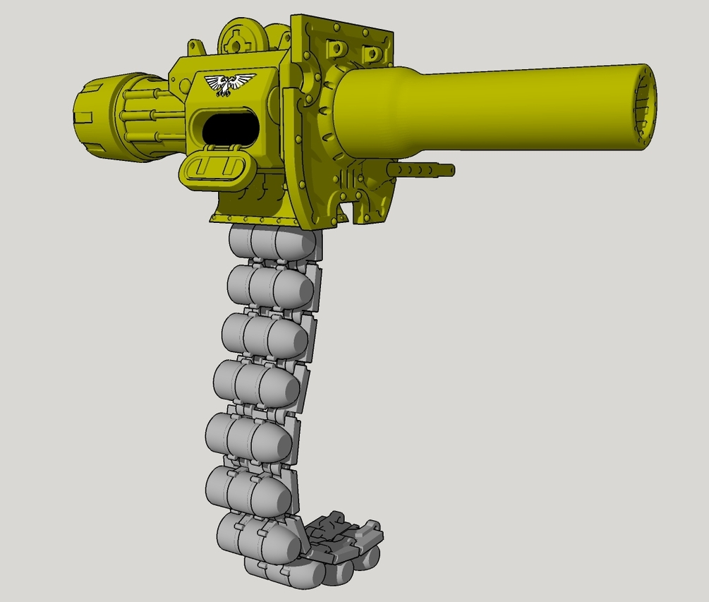 Battle Cannon with ammo belt.