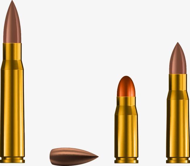 Vector Bullets And Bullet, Bullet, Warhead, Cartoon Bullet.