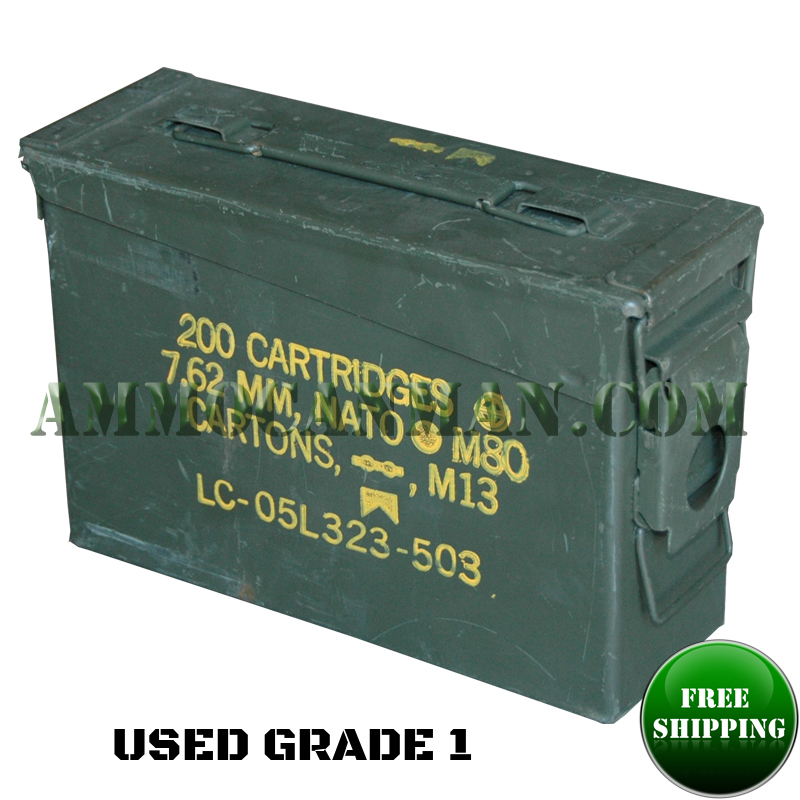 Used 30 Cal Ammo Can Grade 1.