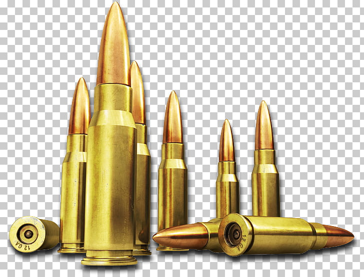 Bullet Icon Firearm Ammunition, Bullets , brass.