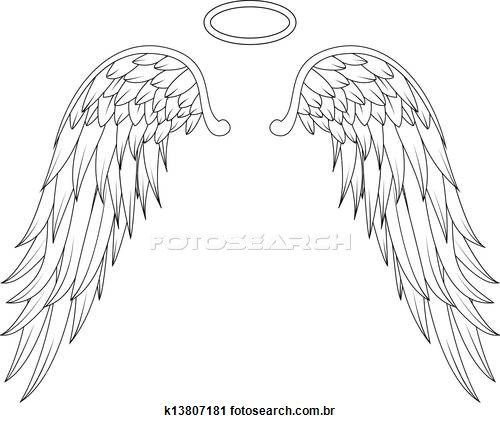 Angel wings Stock Illustrations. 4840 angel wings clip art.