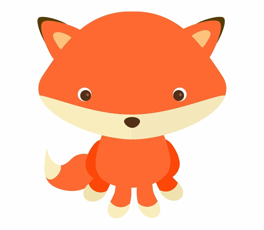 Baby Fox Transparent Image Woodland Animal Clipart Png.