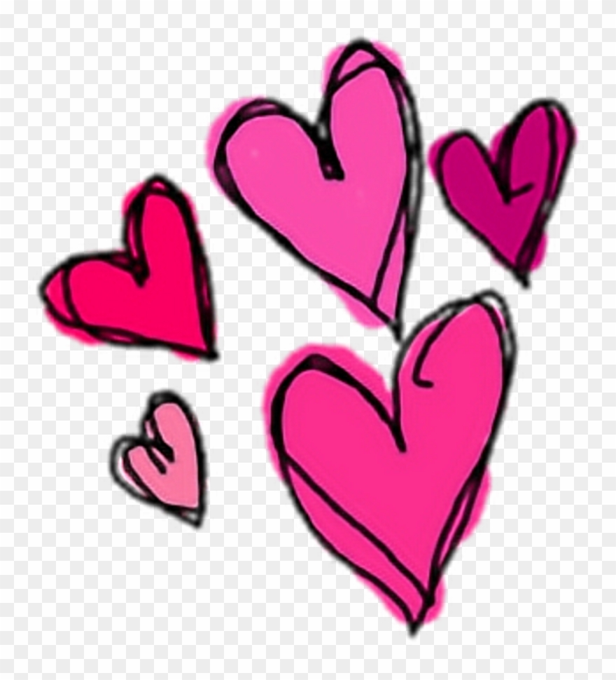 Cute Heart Hearts Pink Sticker Stickers Png Overlay.