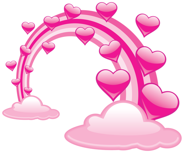 Heart Rainbow Clip art.