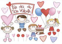 Feliz Dia Del Amor Y La Amistad Clipart.