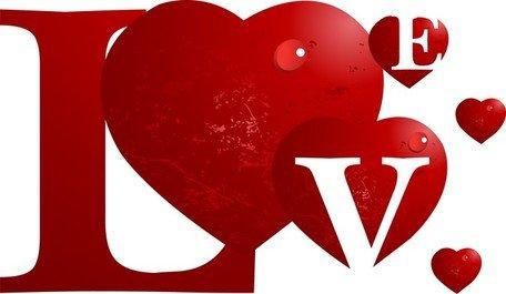 Clip art e grafiche vettoriali gratuite di Amore speciale.
