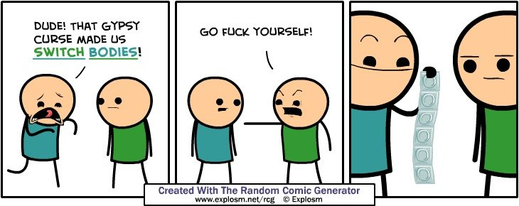 A large amount of comics.