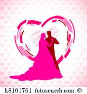 En amour Clipart and Illustration. 38 en amour clip art vector EPS.