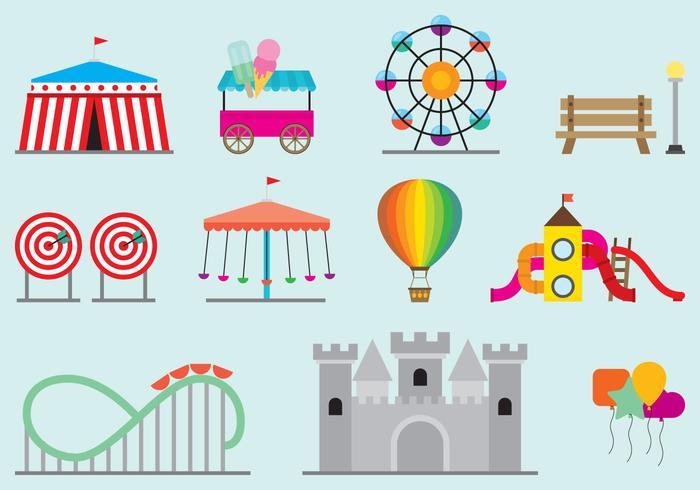 Amusement Park Vectors.