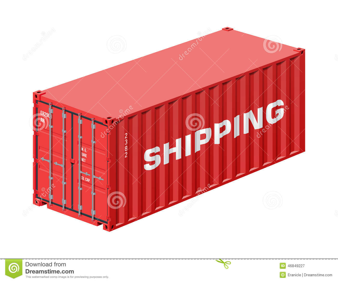 Shipping Container Stock Vector.