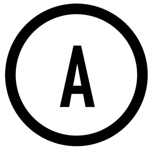 Ampere meter symbol.