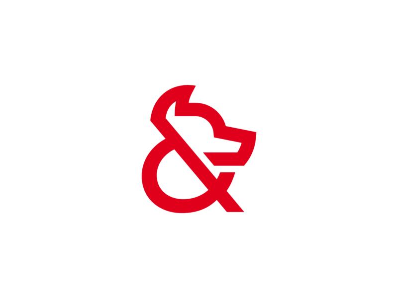 Wolf + Ampersand Logo V.2 by Bram Huinink on Dribbble.
