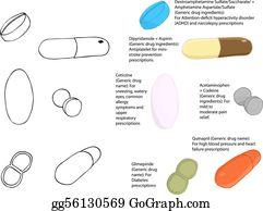 Amphetamine Clip Art.