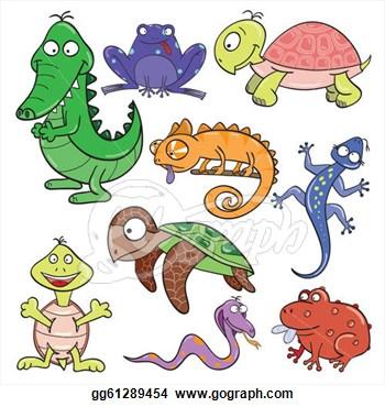 Amphibians Animals Clipart.