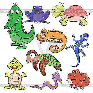 Reptiles And Amphibians Clipart.