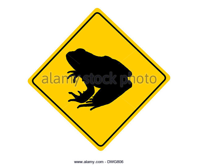 Road Sign Toad Migration Stock Photos & Road Sign Toad Migration.