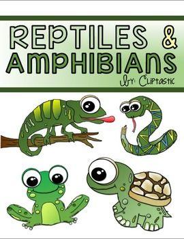 Animal Reptile Amphibian Clipart Freebie.