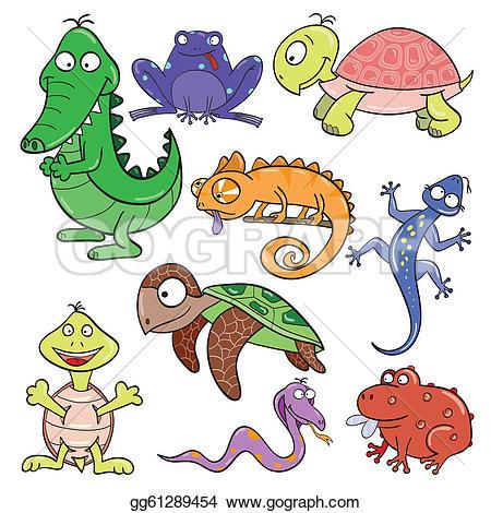 Amphibians Clip Art.