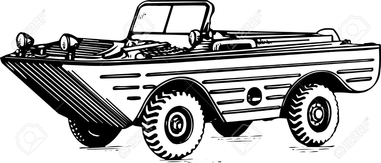Amphibious Vehicle Royalty Free Cliparts, Vectors, And Stock.
