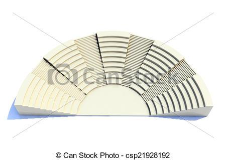 Stock Illustration of 3d amphitheater roman style csp21928192.